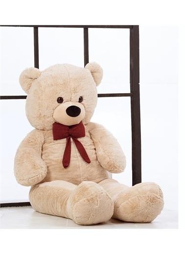 Sole Sevgiliye HEDİYE- 160 cm İthal Kumaş Papyonlu DEV Boy Peluş Ayı Mor